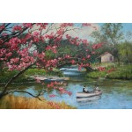 Boating Near The Blossoms by Robert Todonai